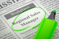 Regional försäljningschef Join Our Team 3d Arkivfoto