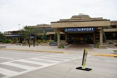 Regional flygplats för snabb stad i South Dakota, USA royaltyfria bilder