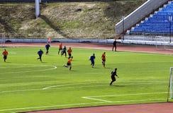 The regional football tournament in memory of Oleg Antoshkin Stock Images