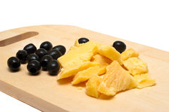 Regional Lithuanian cheese Stock Photo