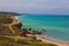 Regional naturreserv Punta Aderci, Italien - Abruzzo Arkivfoton