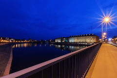 Regional Office and Odra river in Wroclaw Stock Photos