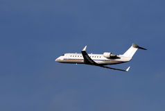 Regional passenger airplane. Few moments after takeoff, more photos in portfolio stock image