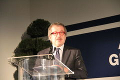 The regional president Roberto Maroni Oct, 2013, for archive Royalty Free Stock Image