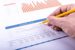 Regional sales graph Stock Images