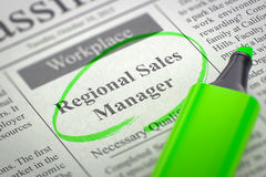 Regional Sales Manager Join Our Team. 3D. Stock Photo
