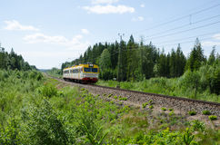 Regional swedish train Royalty Free Stock Images
