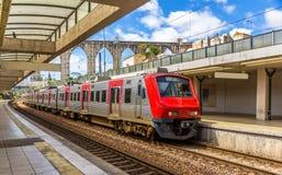 Regional train in Lisbon Stock Photos