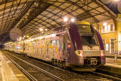 Regional train TER 2N NG at Avignon station Royalty Free Stock Photos