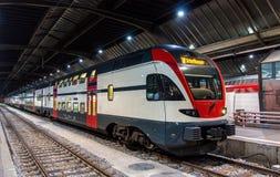 Regional train to Schaffhausen in Zurich Royalty Free Stock Photography