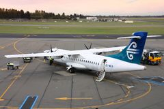 Regional turboprop plane Royalty Free Stock Photography