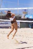 Regional turnering för strandvolleyboll - kvinna Fotografering för Bildbyråer