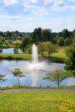 Regionala Meadowlark Botanical Gardens Northern Virginia parkerar arkivfoto