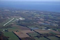 Regionaler Flughafen See Simcoe, von der Luft stockbilder
