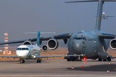 Regionaler Jet Air Dolomitis Canadair Stockbild