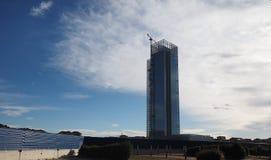 Regione皮耶蒙特摩天大楼在都灵 图库摄影