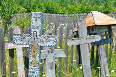 Regione antica di Valcea delle traverse del cristiano Immagini Stock Libere da Diritti