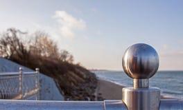 Regione baltica di Kaliningrad della spiaggia, Zelenogradsk (Cranz), Russia Fotografia Stock