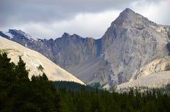 Regione del lago Maligne, Rocky Mountains, Canada occidentale Immagini Stock Libere da Diritti