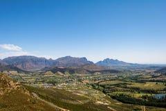 Regione del vino di Franschoek vicino a Cape Town, Sudafrica Fotografia Stock