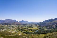 Regione del vino di Franschoek vicino a Cape Town, Sudafrica fotografie stock
