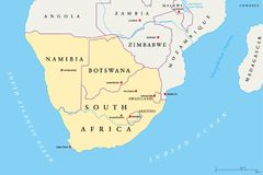 Cartina Dell Africa Meridionale.Regione Dell Africa Meridionale Mappa Politica Illustrazione Vettoriale Illustrazione Di Southern Swaziland 109980053