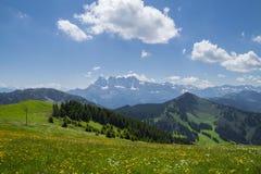 Regione delle alpi francesi, Rhone - di Alpes Fotografie Stock