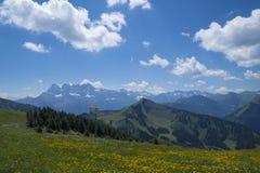 Regione delle alpi francesi, Rhone - di Alpes Immagini Stock Libere da Diritti