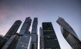 regione di affari della Mosca-città Fotografie Stock