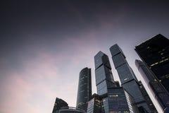 regione di affari della Mosca-città Fotografie Stock Libere da Diritti