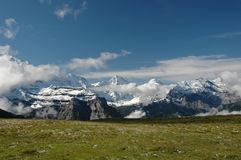 Regione di Eiger Immagini Stock