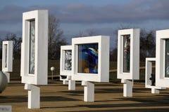 Regione di Homiel', distretto di Zhlobin, VILLAGGIO ROSSO della SPIAGGIA, Bielorussia - 16 marzo 2016: Complesso commemorativo in Fotografia Stock Libera da Diritti