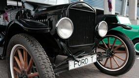 Regione di Mosca, RUSSIA - 16 settembre 2018: retro marca Ford T dell'automobile video d archivio