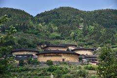 Regione di NaJing di tulou del Fujian in Cina Fotografia Stock
