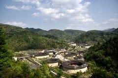 Regione di NaJing di tulou del Fujian in Cina Immagini Stock Libere da Diritti