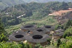 Regione di NaJing di tulou del Fujian in Cina Immagini Stock
