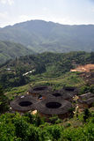 Regione di NaJing di tulou del Fujian in Cina Fotografia Stock Libera da Diritti