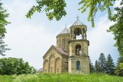 Regione di Racha della cattedrale di Nikortsminda di Georgia Fotografie Stock