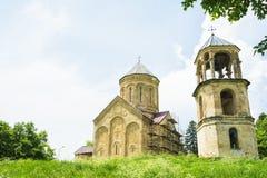 Regione di Racha della cattedrale di Nikortsminda di Georgia immagine stock libera da diritti