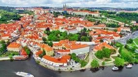 Regione Lesser Town di Praga, vicino al san Vitus della chiesa Fotografia Stock