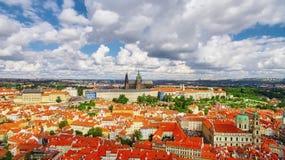 Regione Lesser Town di Praga, vicino al san Vitus della chiesa Fotografie Stock Libere da Diritti