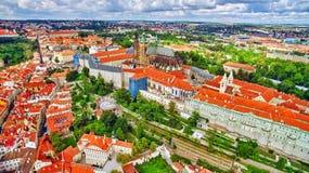 Regione Lesser Town di Praga, vicino al san Vitus della chiesa Immagine Stock Libera da Diritti