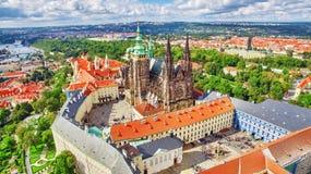 Regione Lesser Town di Praga, vicino al san Vitus della chiesa Fotografia Stock Libera da Diritti