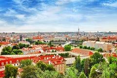 Regione Lesser Town di Praga, vicino al san Vitus della chiesa Immagini Stock