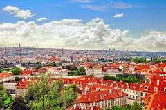 Regione Lesser Town di Praga, vicino al san Vitus della chiesa Immagine Stock