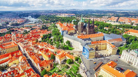 Regione Lesser Town di Praga, vicino al san Vitus, Ventseslaus e Adalbert della chiesa Fotografie Stock