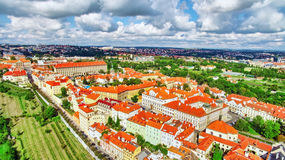 Regione Lesser Town di Praga, vicino al san Vitus, Ventseslaus e Adalbert della chiesa Fotografia Stock