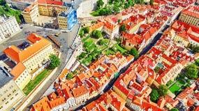 Regione Lesser Town di Praga, vicino al san Vitus, Ventseslaus e Adalbert della chiesa Fotografia Stock Libera da Diritti