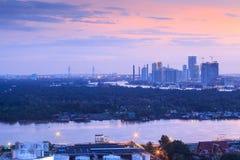 Regione metropolitana di Bangkok, di Chao Phraya River e colpo Kachao Fotografia Stock