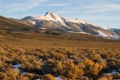Regione Nevada Landscape del bacino del picco di alta montagna grande Immagini Stock Libere da Diritti